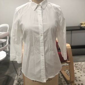 J. Crew White Button Up Small Women's